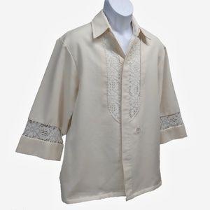 eab95cdc0562 Vintage Shirts | Vtg 70s Beau Tiki Iolani Hawaii Mens Wedding Lg ...